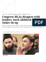 Congress MLAs Disagree With Leaders, Back Akhilesh Yadav Tie-up _ the Indian Express