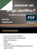 Como Escrever Um Artigo Científico