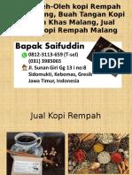 0812-3113-659 (T-sel) Pusat Oleh-Oleh Kopi Rempah Khas Malang, Buah Tangan Kopi Rempah Khas Malang, Jual Bubuk Kopi Rempah Malang