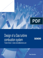 Design of a Gas Turbine Combustion System