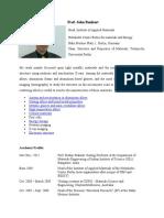 Prof. John Banhart Resume-Foams