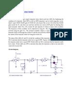 LED Based Transistor Tester