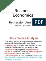 9. Business Economics -Regression Analysis
