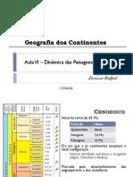 Aula VI - Dinâmica Das Paisagens (Cenozoico)