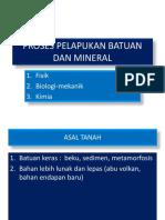 Proses Pelapukan Batuan Dan Mineral