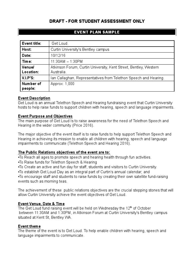 event management plan sample | Public Transport | Transport