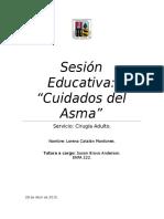 Sesión Educativa Asma