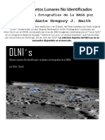 ULOs – Unidentified Lunar Objects Revealed in NASA Photography by Lt. Commander Gregory J. Smith - SpanishVersion