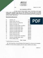 COAL INDIA Constitution of JBCCI-X