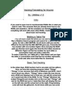 ROM Hacking Translating for Anyone Volume 1