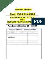 JKA 319E-JKA421E Perancangan Akademik 2016-2017