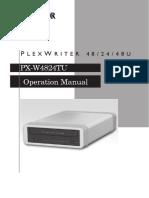 Plextor - Px w4824tu Om