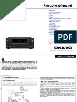 Onkyo Tx Nr646 Parts on