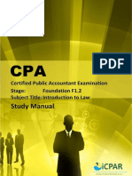 Cpa f1.2 - Introduction to Law - Study Manual