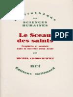 Michel Chodkiewicz, Le Sceau des saints, Prophétie et sainteté dans la doctrine d'Ibn Arabî