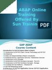 SAP ABAP online training-course content