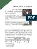 Impacto Del Cemento Caliente en La Mezcla de Concreto