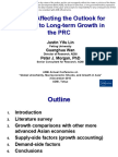 Factors Affecting the Outlook for Medium- to Long-term Growth in the PRC