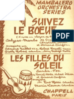 Armand Canfora - Suivez Le Boeuf - 1960 - Calypso Mambo - Band Sheet Music