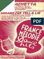 Belle Fenstock - Simonetta 1953 - Band Sheet Music