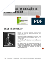 A Sociologia Da Educação de Pierre Bourdieu