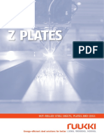 Hot Rolled Steels, Z Plates - Ruukki Metals (Catálogo, 2014)