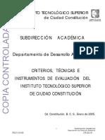 Criterios Tecnicas e Instrumentos de Evaluacion