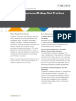 Forrester Report Customer Experience Strategy Best Practices