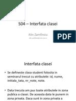 Interfata claselor C++