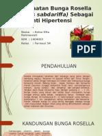 Pemanfaatn Bunga Rosella Sebagai Anti Hipertensi