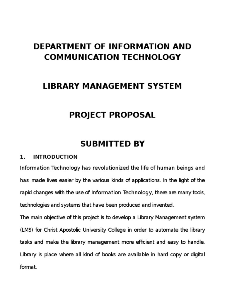 Proposal For Library Management System (Lms) 2016 | Libraries | User  (Computing)