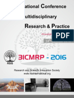3rd International Conference on Multidisciplinary Research & Practice (3ICMRP-2016) Conference Proceeding