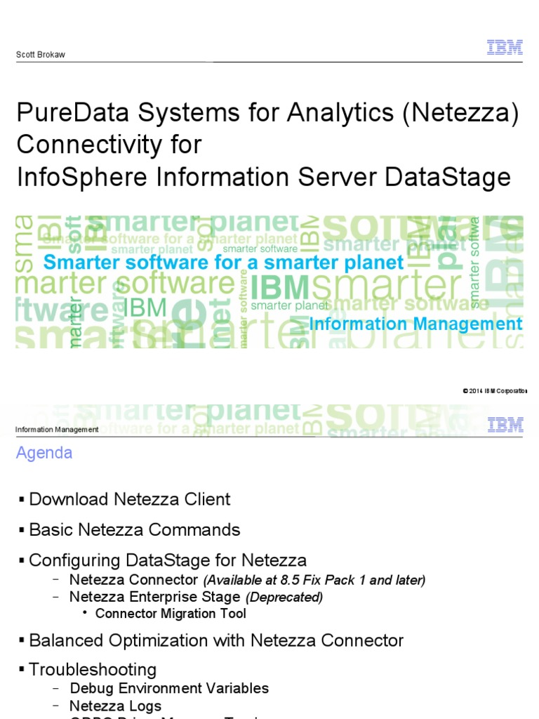 IBM IM STE PDA Connectivity for IIS DataStage | Sql | Library (Computing)