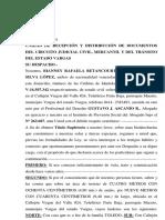 Modelo Título Supletorio de Bienhechurías (Pareja Concubinos)