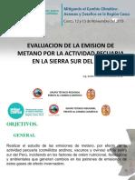 Evaluación metano, UNSAAC