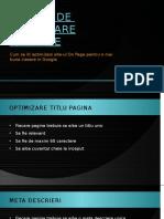 Tehnici de Optimizare SEO on Page - Star Marketing