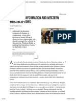 Russian Disinformation and Western Misconceptions • Inside Story