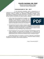 COMUNICADO PNP N° 01 - 2017