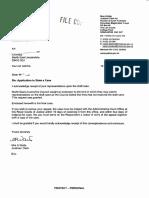 Letter 19 December 2013