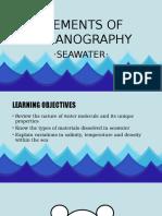Elements of Oceanography