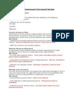 Risk Assessment Document Review
