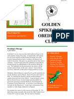 January 2017 Golden Spike Dog Obedience Club Newsletter