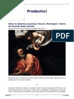 Diario de Armando Rojas Guardia - Sobre La Dialéctica Espiritual, Pascal y Montaigne