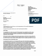 Complaint Response 22 July 2016