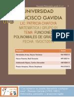 Funciones Polinómicas Gradp 3 y 4