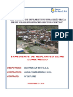Expediente Obra Concluida Challhuahuacho - Renovación BT