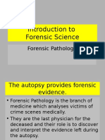 Introduction to Forensic Science Lecture 5 Forensic Pathology.ppt