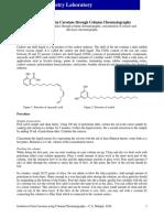 Isolation of Beta Carotene Through Column Chromatography