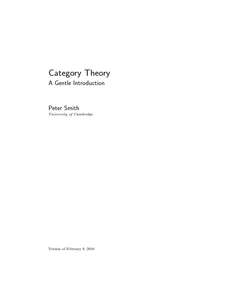 Peter Smith - Category Theory, A Gentle Introduction pdf | Function
