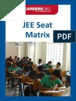 JEE Seat Matrix